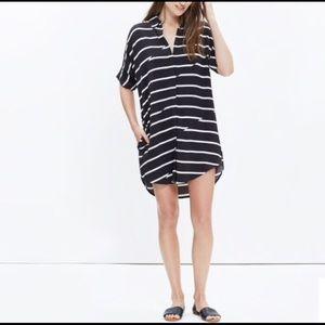 ISO Madewell Courier Breakstripe Shirt Dress